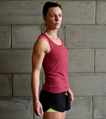 Women's Yoga Tank Top (Brick Red) - wodarmour