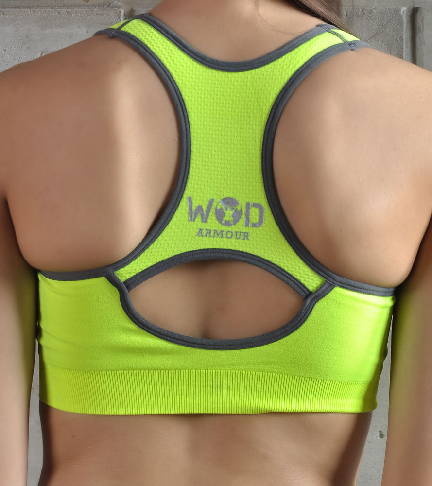 Women's Power Packed Sports Bra (Neon) - wodarmour