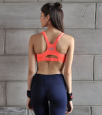 Women's High Performance sports bra (Orange) - wodarmour