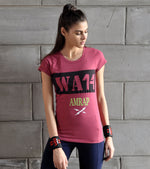 Women's  Amrap Training T-shirt (Brick Red)