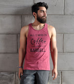 Men's C&B Graphic Tank Top (Brick Red)