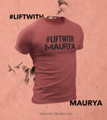 Men's Lift With Maurya T-shirt (Crimson Red) - wodarmour