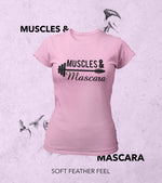 Women's Muscle & Mascara T-Shirt (Taffy Pink) - wodarmour