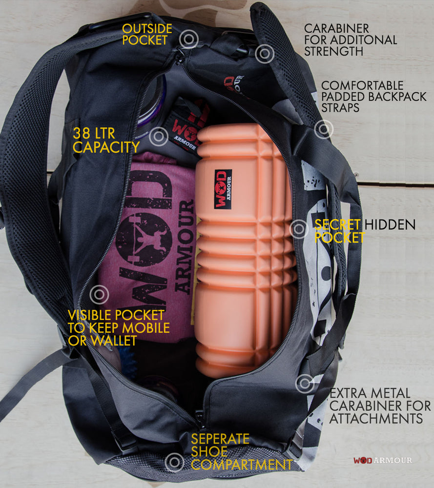 Armour Gym & Travel Bag with carabiner - wodarmour