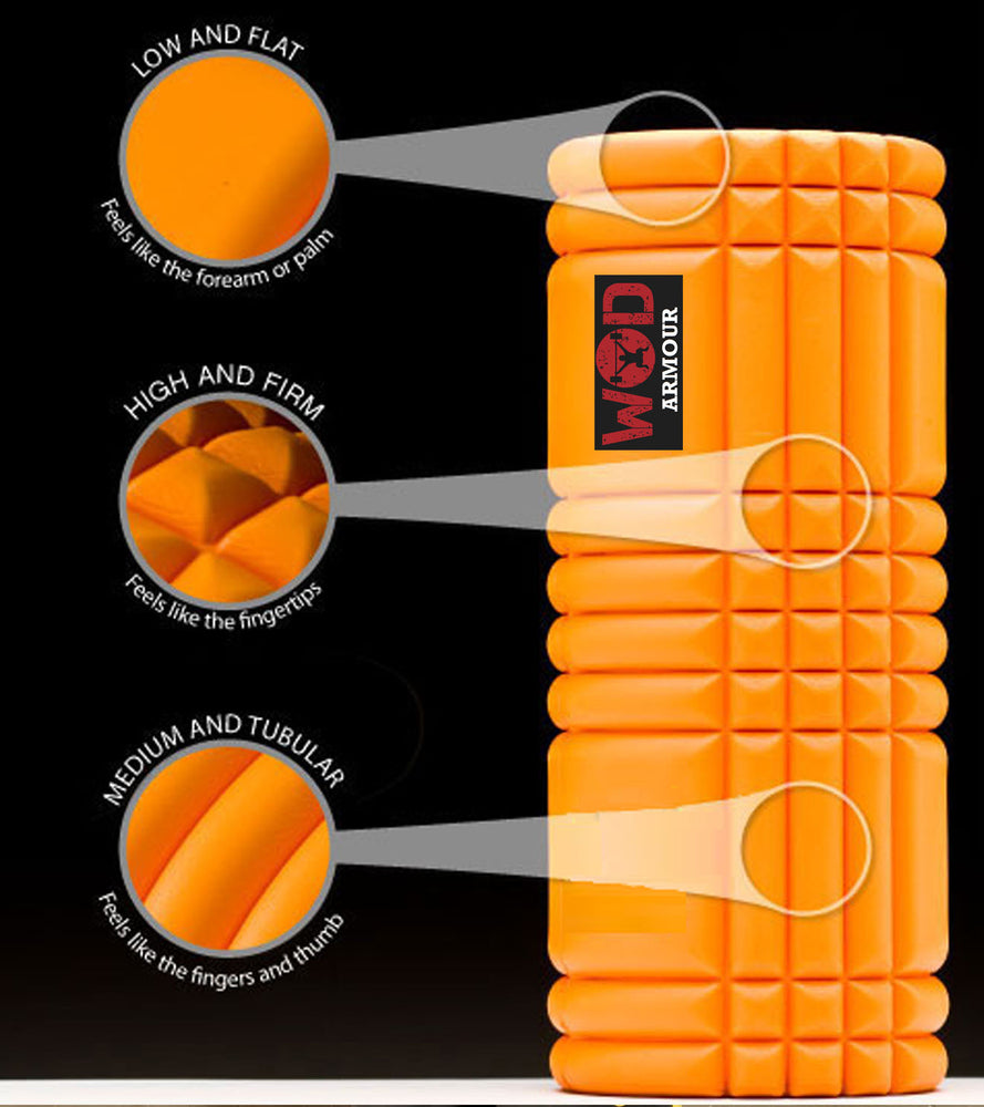 Grid Foam roller( heavy duty) with ABS - wodarmour