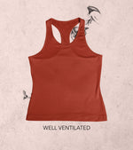 Women's Tank Top (Brick Red) - wodarmour