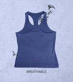 Women's Yoga Tank Top (Admiral Blue) - wodarmour