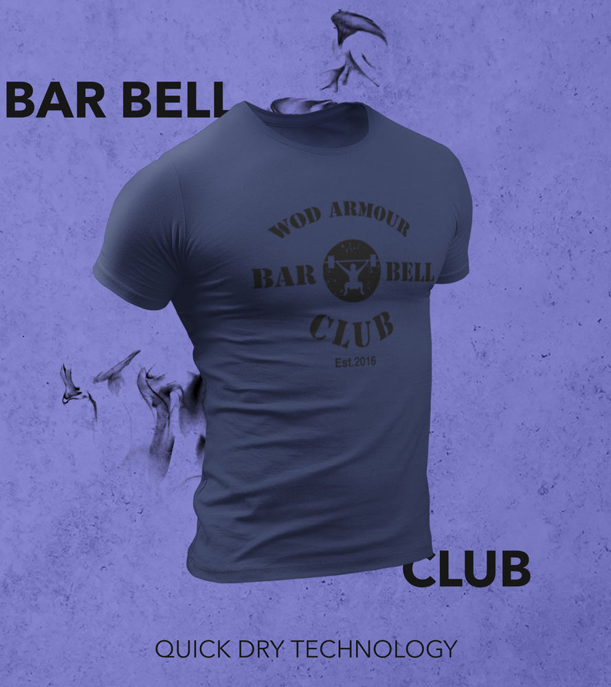 Men's Barbell Club T-shirt (Cyber Grape Purple) - wodarmour
