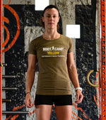 Women's Boot Camp yellow olive T-shirt