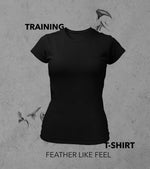 Women's training T-shirt (Black)