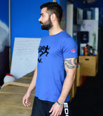 Men's DRY- Fit Blue Graphic T-shirt - wodarmour