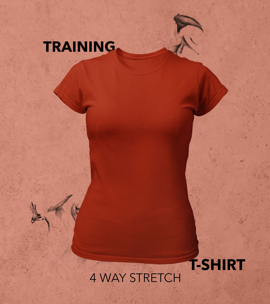 Women's Training T-shirt (Brick Red)
