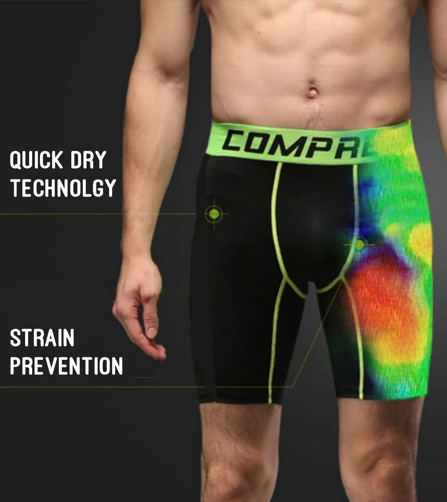 Mens Breathable Quick-Dry Compression Shorts
