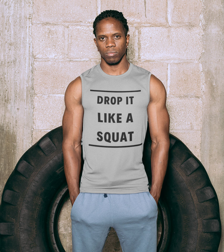 "Men's ""DROP IT LIKE A SQUAT"" Tank Top - wodarmour"