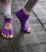 Yoga socks For Balance and Stability (purple) - wodarmour