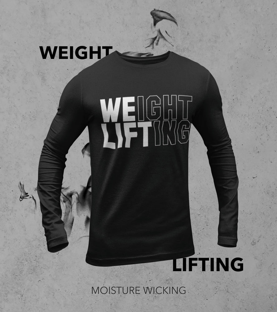 Men's Full Sleeve Weight Lifting T-shirt (Black) - wodarmour