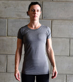 Women's Dry Fit Grey T-shirt - wodarmour