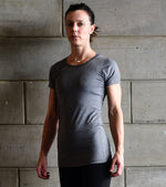 Women's Dry Fit T-shirt (Grey) - wodarmour