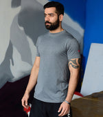 Men's Grey Dry Fit Running T-shirt