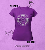 Women's  Super Hero T-shirt (Dark Voilet) - wodarmour
