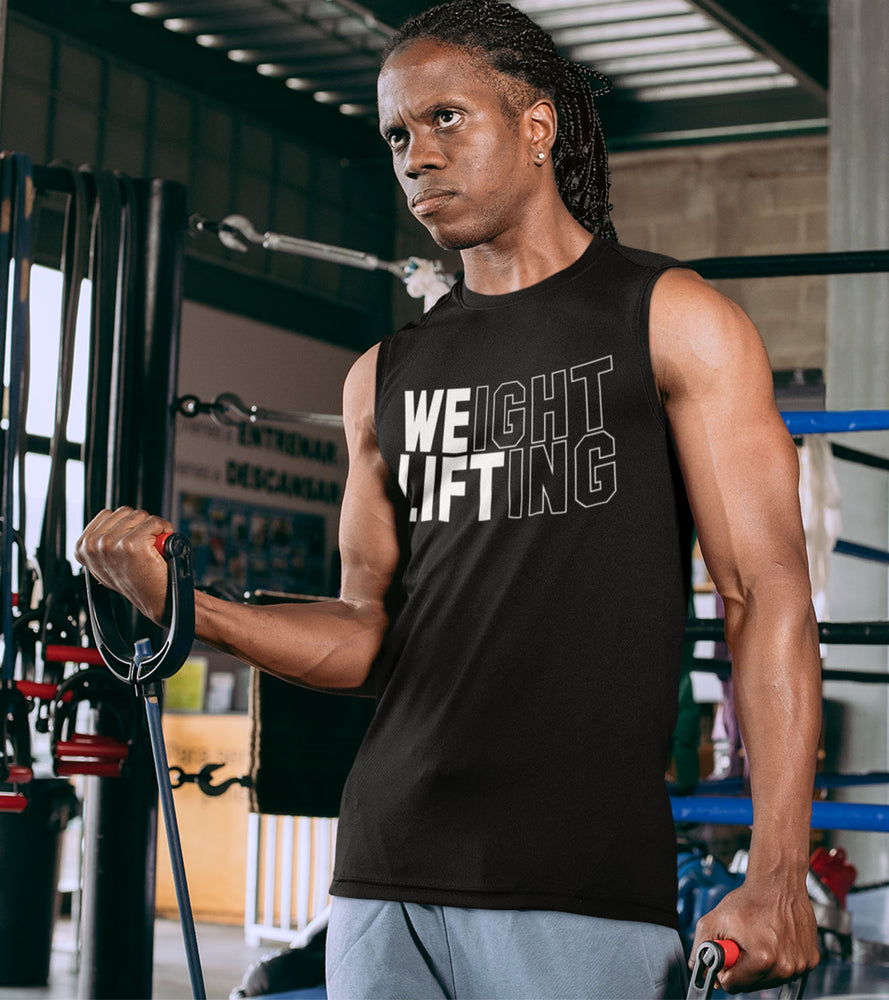 Weight lifting muscle tank top (Black) - wodarmour