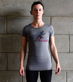 Women's Running Graphics T-shirt (Grey)