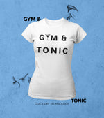 "Women's ""GYM & TONIC"" T-Shirt - wodarmour"