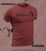 Men's Karona Workout T-shirt (Brick Red) - wodarmour