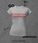 Women's Unbroken T-shirt (Rhino Grey) - wodarmour