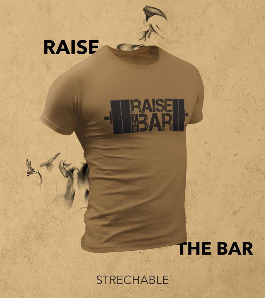 Men's Raise The Bar T-shirt (Olive Green) - wodarmour