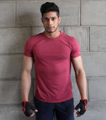 Men's training t-shirt (Brick Red) - wodarmour