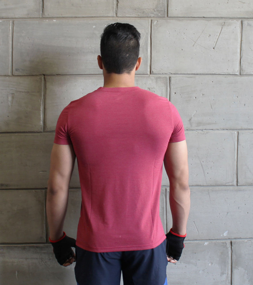 Men's Brick Red Plain t-shirt - wodarmour
