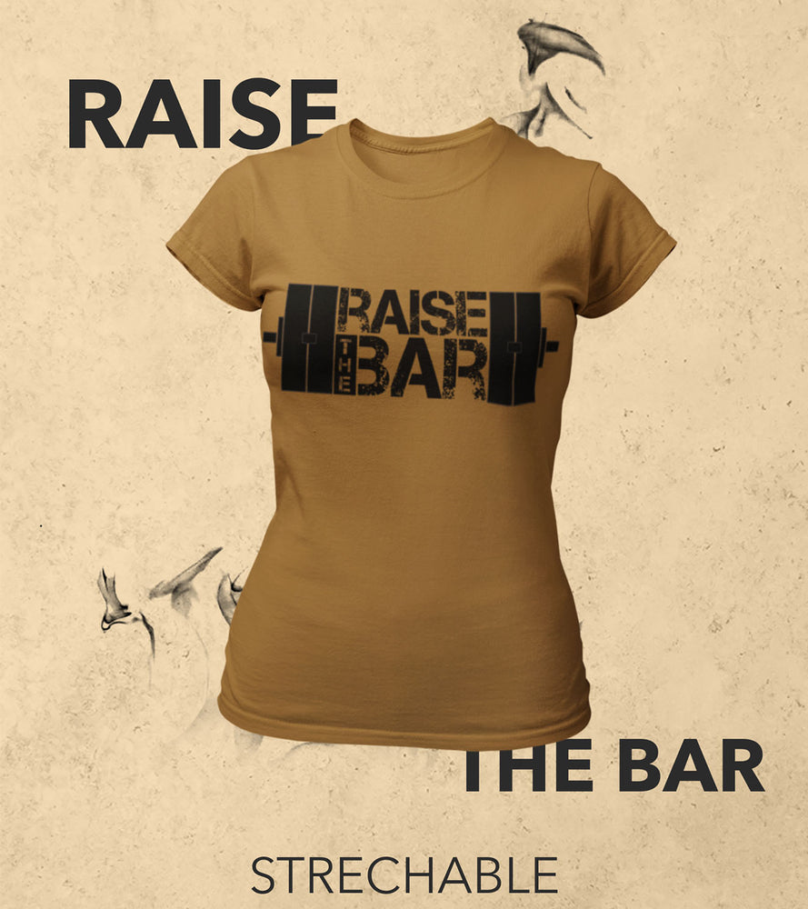 Women's Raise The Bar T-Shirt (Olive Green)