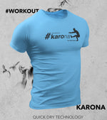 Men's Karona Workout T-shirt (Dodger Blue) - wodarmour