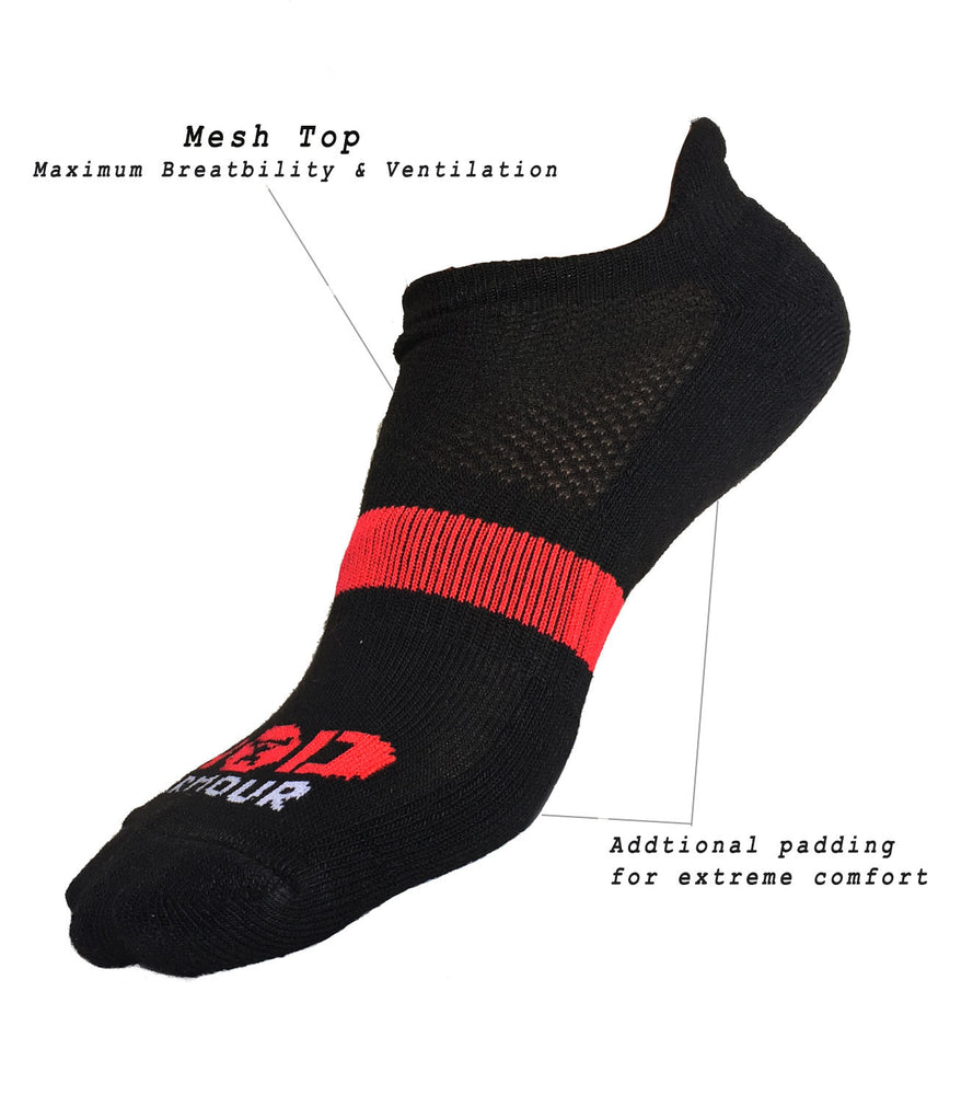 Ankle Length Breathable Training Socks Black - wodarmour