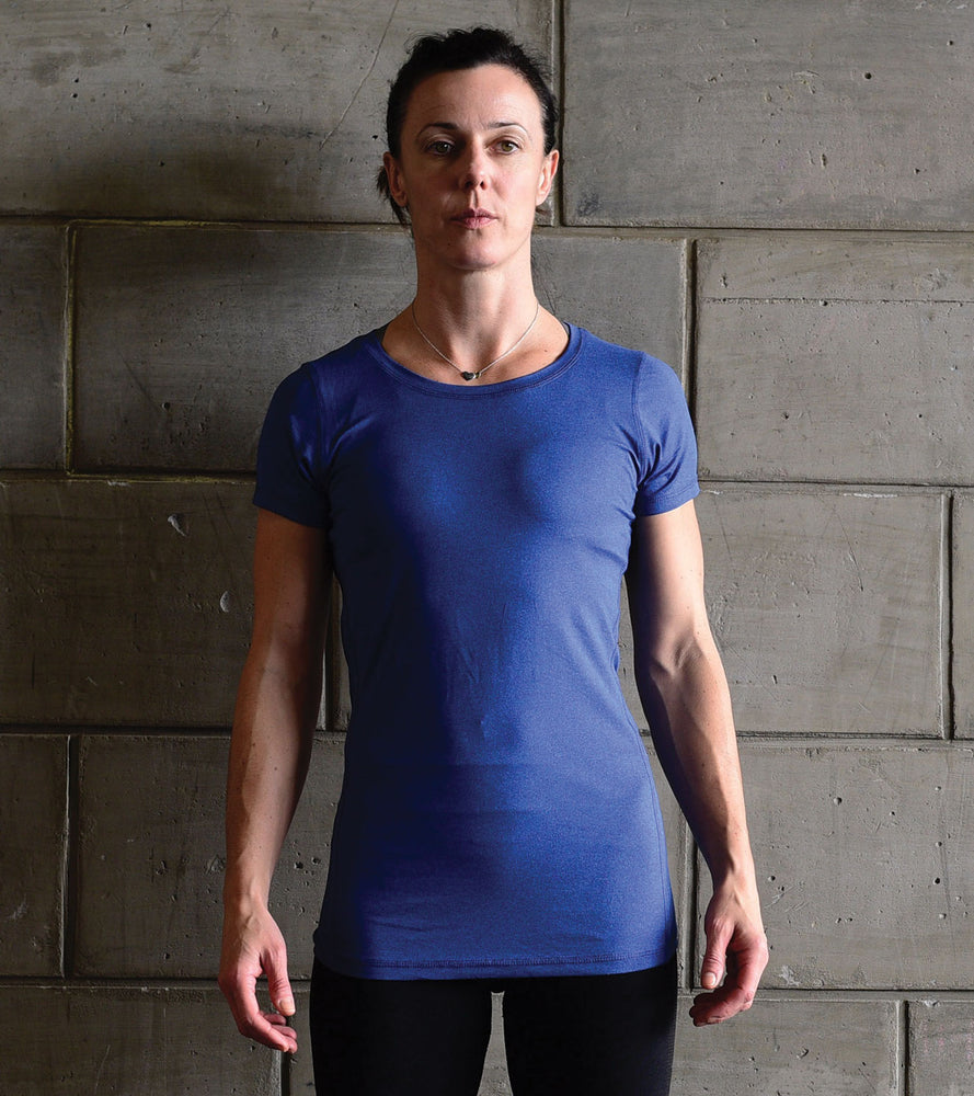 Women's Dry Fit T-shirt (Blue) - wodarmour