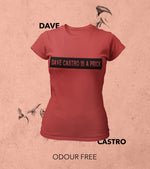 Women's Dave Castro T-shirt (Crimson Red) - wodarmour