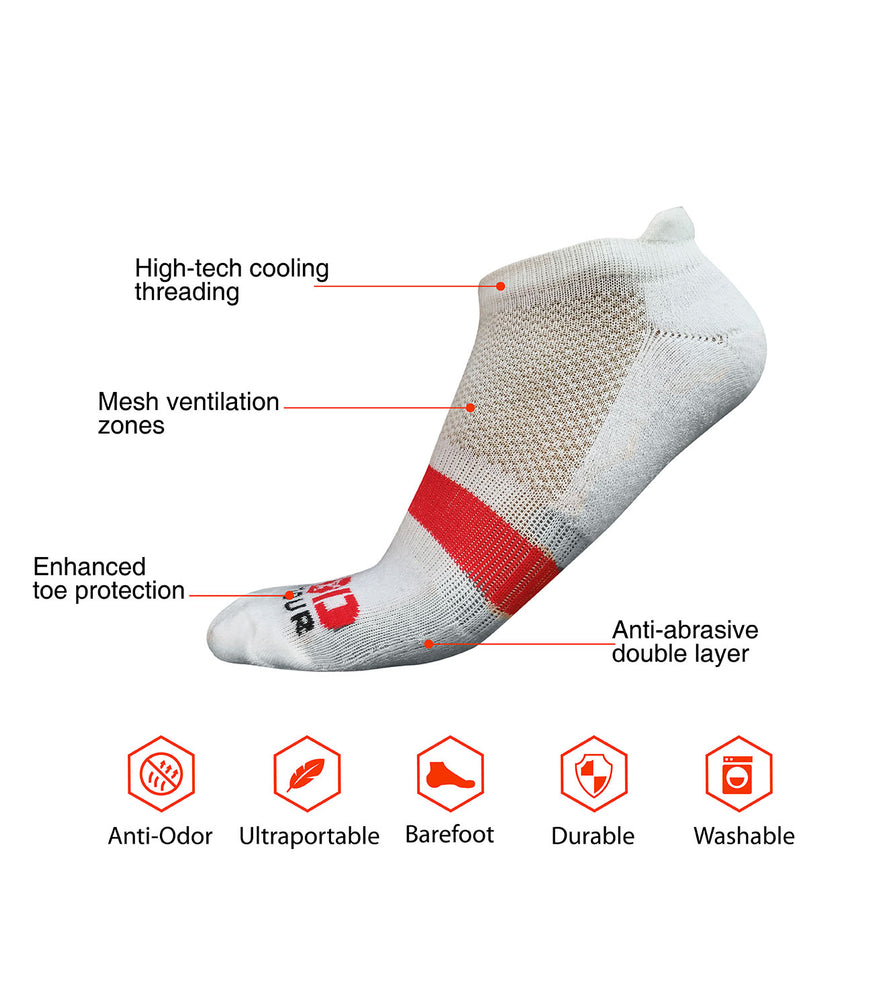 Ankle Length Breathable Training Socks White