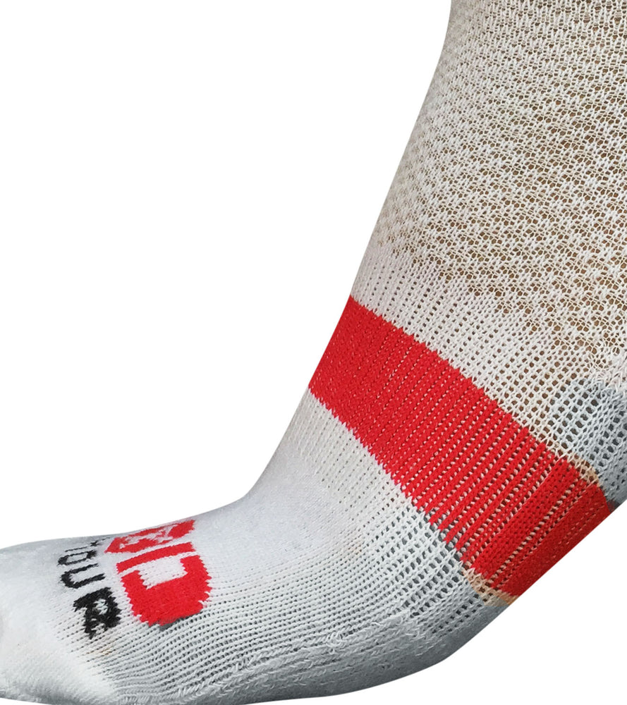 Ankle Length Breathable Training Socks White - wodarmour