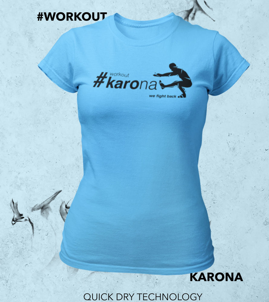 Women's  Karona workout T-shirt (Dodger Blue) - wodarmour