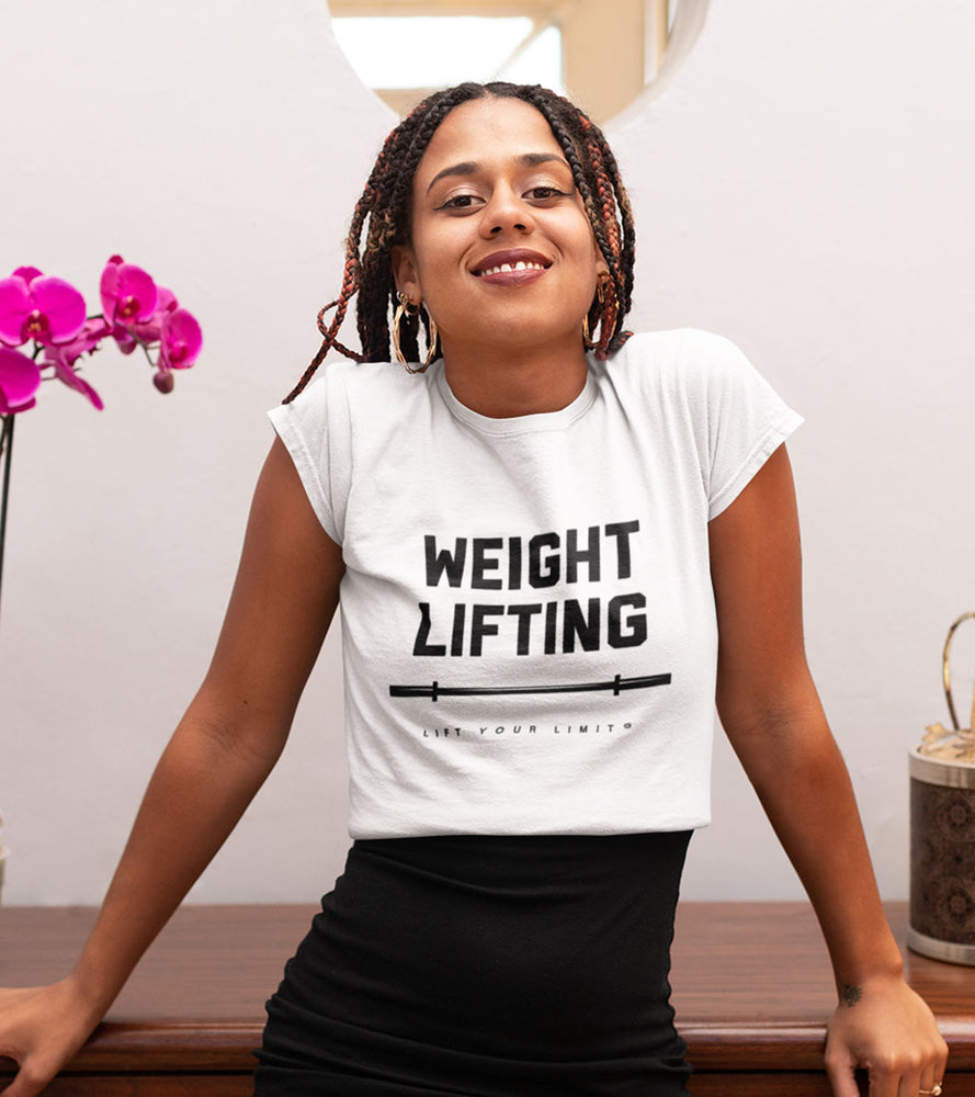 Women's Weight Lifting T-shirt (White) - wodarmour