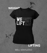 Women's Weight Lifting T-Shirt (Black)
