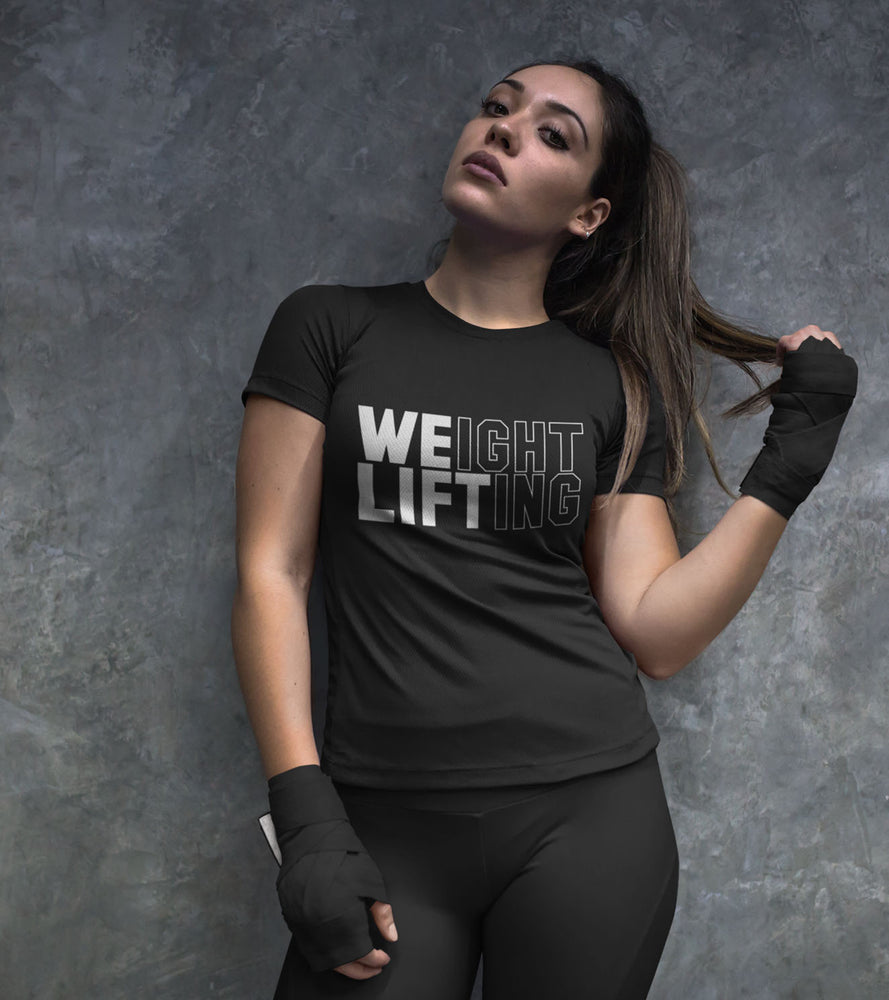 Women's Weight Lifting T-Shirt (Black) - wodarmour