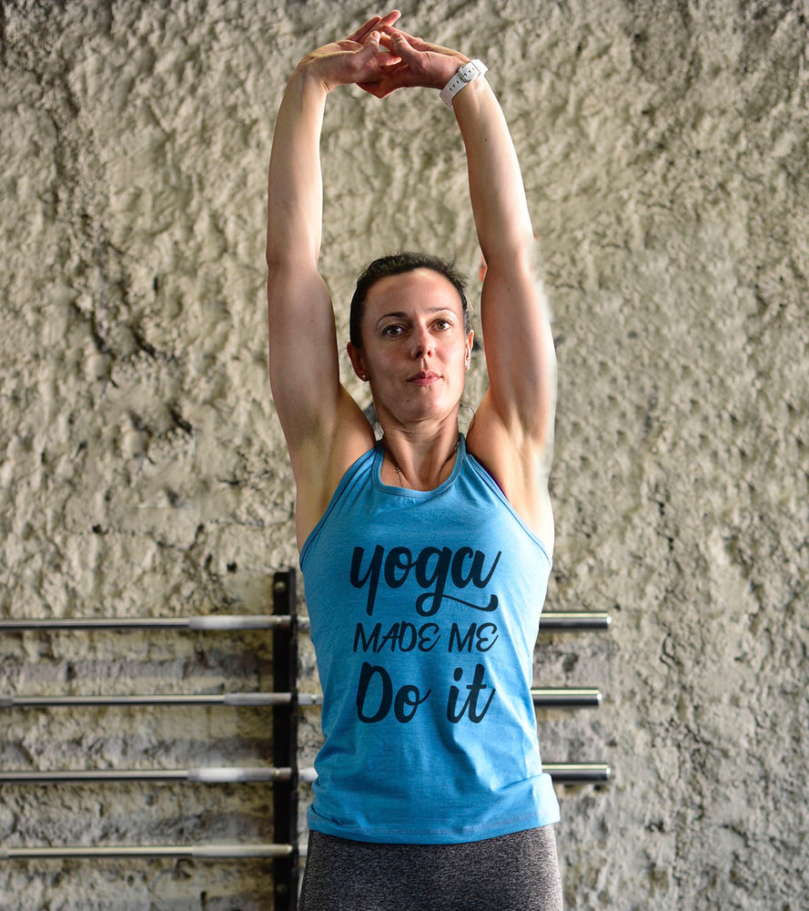 Yoga Graphic Tank Top (Doger Blue) - wodarmour