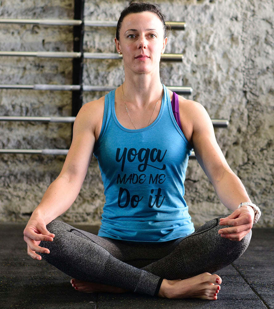 Yoga Graphic Tank Top (Doger Blue)