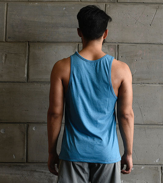 Men's Graphic Yoga tank ( Dodger Blue ) - wodarmour