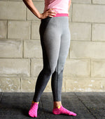 Grey Seamless yoga pants - wodarmour
