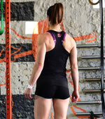 Women's Breathable tank top (Black) - wodarmour
