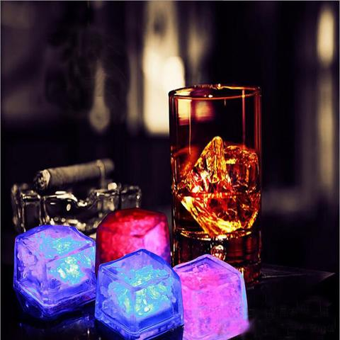LED Glowing Ice Cubes (4 pcs)