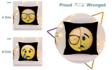 Changing Face Emoji Sequin Pillowcase